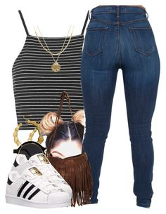 """""""4/16/16"""" by yasnikki ❤ liked on Polyvore featuring Topshop, adidas and Juicy Couture"""