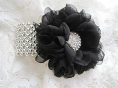 black and silver corsage for prom - Google Search