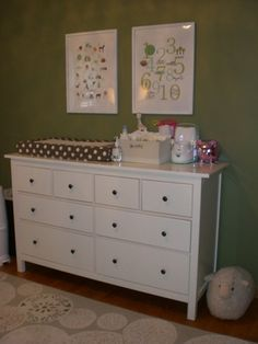 Love The Idea Of A Dresser As A Changing Table Too....space