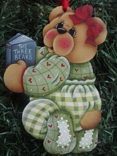 HP TEDDY BEAR with Story Book ORNAMENT