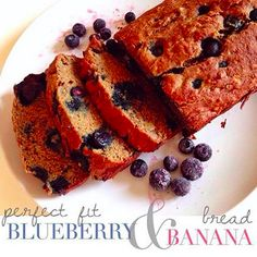 Blueberry Banana Bread shared by daniellerose_tiu! 1 scoop Perfect Fit Protein,1 cup blueberries, 3 bananas, 2 tbsp unsweetened applesauce, 1 1/4 cup whole wheat flour, 3/4 tsp baking soda, 1 tsp baking powder, 1 tsp cinnamon, 2 tbsp coconut oil, 1/4 cup maple syrup, 2 egg whites, 1 tsp vanilla extract. Mix all ingredients together. Fold in blueberries. Spray loaf pan with non-stick cooking spray, pour in batter. Bake at 350 degrees for 50-55 minutes or until toothpick comes out clean.