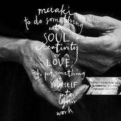 november or 'meraki' from the LW Fine Art Calendar '15 | Handwriting by Sara Nbergman & Photography by Hannah Lemholt | © Lemholt N' Bergman / Love Warriors