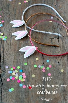 itty bitty Easter bunny ears headband (free printable)- Nobiggie.net