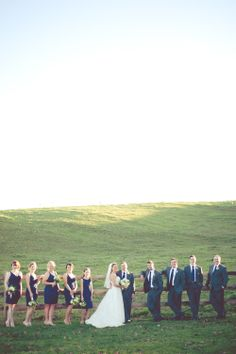 Love all of the navy blue for the bridal party