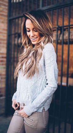 #winter #fashion / gray knit