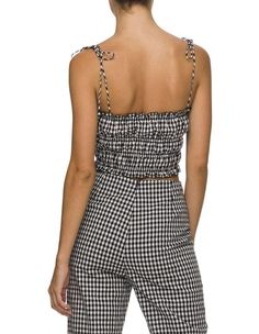 Lulu And Rose Mina Check Top. Perfectly tie your ensemble together in the Cruz Top by Lulu & Rose. Beauty Boutique, Fashion Boutique, Outfit Shop, Girls Wardrobe, Square Necklines, Australia, Tie, Clothes For Women, Female