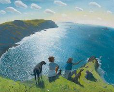 nicholas hely hutchinson | Nicholas Hely Hutchinson - On the Cornish Cliffs | Portland Gallery