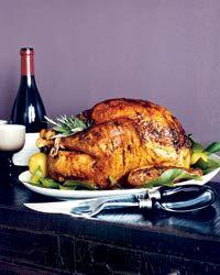 Apricot-Glazed Turkey with Fresh Herb Gravy Recipe on Food & Wine
