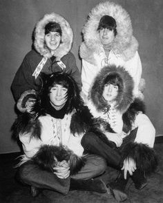 The Beatles Christmas show 1964 at the Hammersmith Odeon in London, England. This pantomime sketch featured them dressed as Antarctic Explorers searching for the Abominable Snowman.