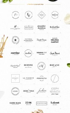 32 Elegant Logo Templates by Uidea™️ on @creativemarket