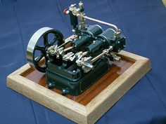 Small steam engine model.