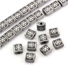 Hematyt kwadrat z rowkiem do makramy śniezynka MAT 7mm Usb Flash Drive, Stone, Rock, Stones, Batu, Usb Drive