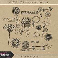 """""""Work Day - Zentangle Doodles"""" kit by Melo Vrijhof"""