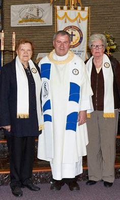 CWL service pin recepians: Cecilija Lehner 25 years & Joyce Tompa 10 year membership award. Congratulations!