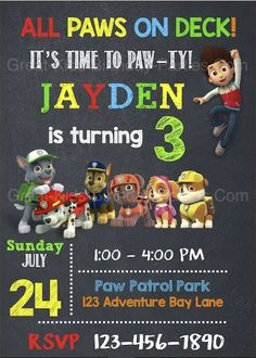 paw patrol party on a budget free invitation lagunalanecom
