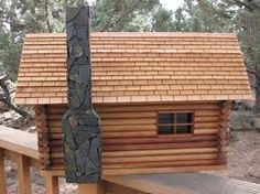 diy log cabin mailboxes - Google Search