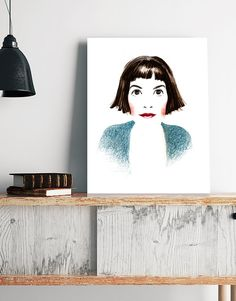 Audrey Tautou - Amelie Paulin- Poster de Cine - Movie Poster - Wall Art Print - Digital Print - Regalo de cine - French