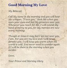 morning letter to my love