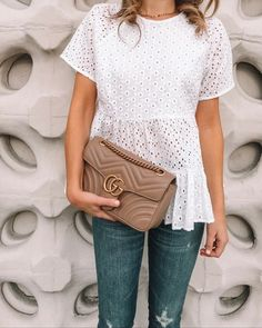 This little eyelet tee has been on repeat and is a top seller for this month! It's under $ and has the sweetest eyelet detailing! Screenshot or 'like' this pic to shop the product details from the LIKEtoKNOW.it app, available now from the App Store! http://liketk.it/2vaP8 @liketoknow.it #liketkit