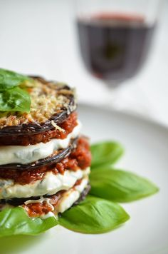Soulfood: Auberginen-Lasagne in der Nahaufnahme