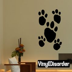 Animal Tracks Wall Decal - Vinyl Decal - Car Decal - DC002