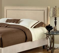Enchanting Stunning Fabric King Headboard  Best Images About Headboards On Pinterest Brown Bedding Head