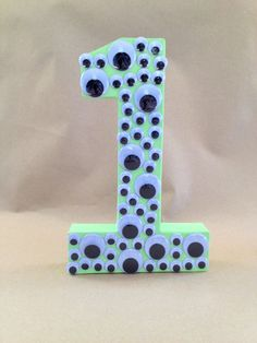 Monsters Inc Monsters University Number 1 - Home Decor, First, Birthday, Photo Prop, Table Decor, Paper Mache Letters