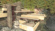 """La """"Casa sulla cascata"""" è una villa progettata nel 1935 e realizzata a Bear Run in Pennsylvania (Stati Uniti d'America) dall'architetto Frank Lloyd Wright e considerata uno dei capolavori dell'architettura moderna. L'architettura """"organica"""" promuove un'armonia tra genere umano e natura, la creazione di un nuovo sistema in equilibrio tra l'ambiente costruito e l'ambiente naturale attraverso l'integrazione dei vari elementi artificiali e naturali dell'intorno ambientale del sito."""