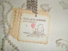 Winnie the Pooh favor gift tags-Wedding tags-Gift tags-Pooh theme-Baby shower favors. $6.50, via Etsy.
