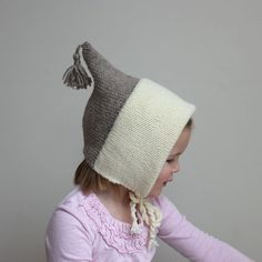 Color Block Bonnet Heather Pebble and Cream  Sizes 3T10 by sweetKM, $38.00