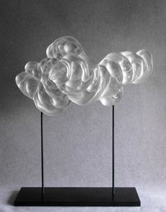 Nuage en verre par Cyrille Morin, Artiste Verrier