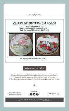 Pintura em Bolos Hand Painted Cakes, Brazil