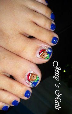 #nails #christmas uñas navideñas