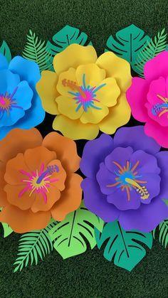 Moana Birthday Decorations, Moana Birthday Party Theme, Moana Decorations, Luau Theme Party, Tropical Party Decorations, Hawaii Birthday Party, Birthday Ideas, Jungle Decorations, Moana Themed Party