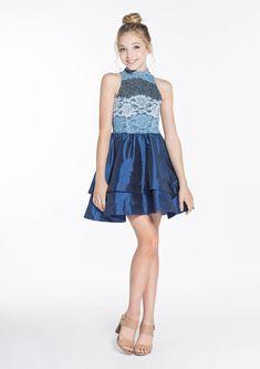Kaycee Navy - Tween Girl Dresses - MissBehaveGirls.com