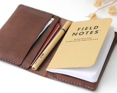 Leather field notes cover Leather passport wallet field notes