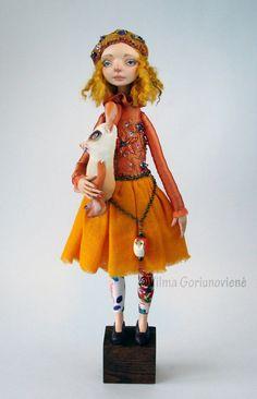 "Reserved  Art doll "" Leila"" OOAK"