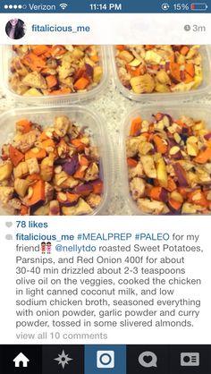 Healthy paleo meal prep idea