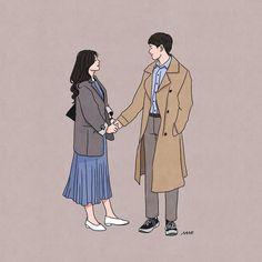 Cute Couple Drawings, Cute Couple Art, Cute Drawings, Chibi Couple, Couple Cartoon, Couple Illustration, Illustration Art, Illustrations, Anime Couples