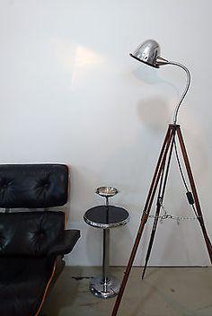 Best Tripod Steh Lampe Arzt uer Holz Stativ Schwanenhals Art d co Vintage Bauhaus