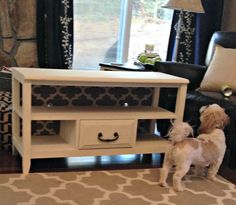 Annie Sloan Old White TV Stand Update How-To