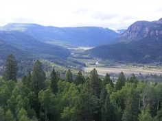The most beautiful spot in America.  The Conejos River valley in Colorado.  Platoro, Colorado is about half an hour's drive up the valley.  For purple mountain majesty...