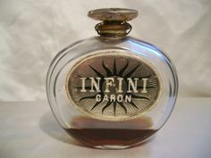 "CARON ""INFINI"" BACCARAT FLACON PARFUM SCELLE 1912 SEALED VINTAGE PERFUME BOTTLE in Collections, Parfums, Flacons 