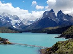 Hosteria Pehoe, the oldest hotel in Torres del Paine National Park, sits on an island in Lake Pehoe.