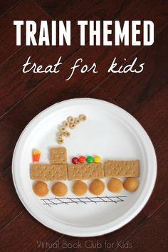 Train Themed Treat for Kids Preschool Cooking, Preschool Snacks, Train Crafts Preschool, Food Art For Kids, Cooking With Kids, Kids Food Crafts, Train Activities, Activities For Kids, Toddler Meals