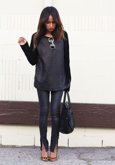 Wear toned down sequins for this classic look.