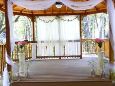 The gazebo all dressed up.  Photo: Carl Stephenson at The Sanctuary on the River