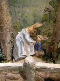 Peter Rabbit and his mother