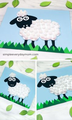 This pom pom sheep craft is a fun and easy craft for kids all the way from toddlers to elementary aged children. It's a fun spring craft idea or when kids are learning about farm animals, and it comes with a free printable template. Farm Animals Preschool, Farm Animal Crafts, Sheep Crafts, Farm Crafts, Animal Crafts For Kids, Spring Crafts For Kids, Easy Crafts For Kids, Art For Kids, Church Crafts