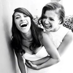 While we're at it, double the laughter.   Wedding Photos That Prove Two Brides Are Better Than One